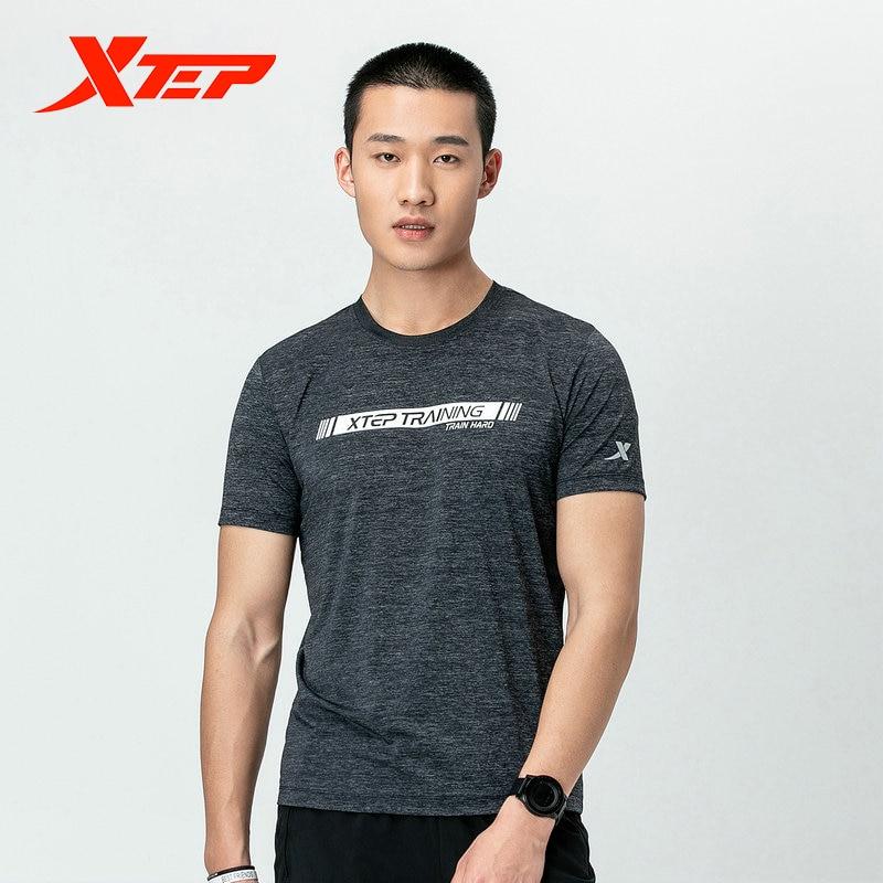 Xtep, camiseta para correr para hombre, camiseta de secado rápido de seda de hielo, camiseta de manga corta para correr para hombres, 881229019263