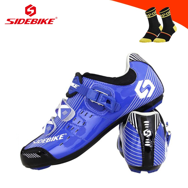 SIDEBIKE Road Cycling Sneakers Breathable Self-locking Sapatilha Ciclismo Riding Bicycle Shoes Wear-resistant Road Bike Shoes
