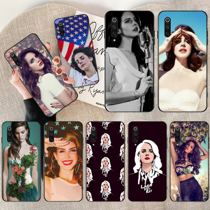 PENGHUWAN Lana Del Rey Hard TPU Soft Silicone Phone Case Cover for Xiaomi Mi9 9SE 8SE Pocophone F1 M