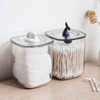 transparent organizer cotton swab storage box organizador acrylic cotton pad storage box cosmetic plastic box bathroom bedroom