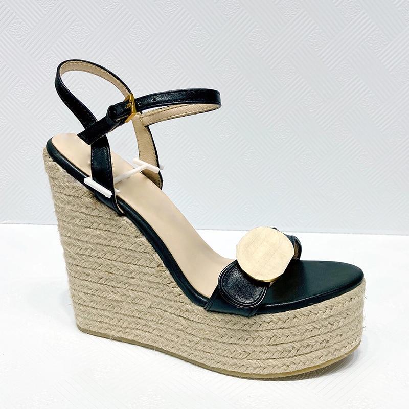2021 summer women Platform Luxury designer sandals Ankle Wrap Shoe womens Party Heels Shoes Soft Leather Buckle Strap Solid