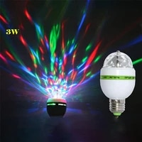 e27 3w colorful auto rotating stage disco light rgb ampoule led lamp party lamp bulb for home decoration ac85 265v