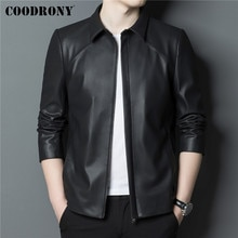 COODRONY Brand Autumn Winter New Arrival Men's Jacket Soft Warm Genuine Leather Jackets Fashion Shee