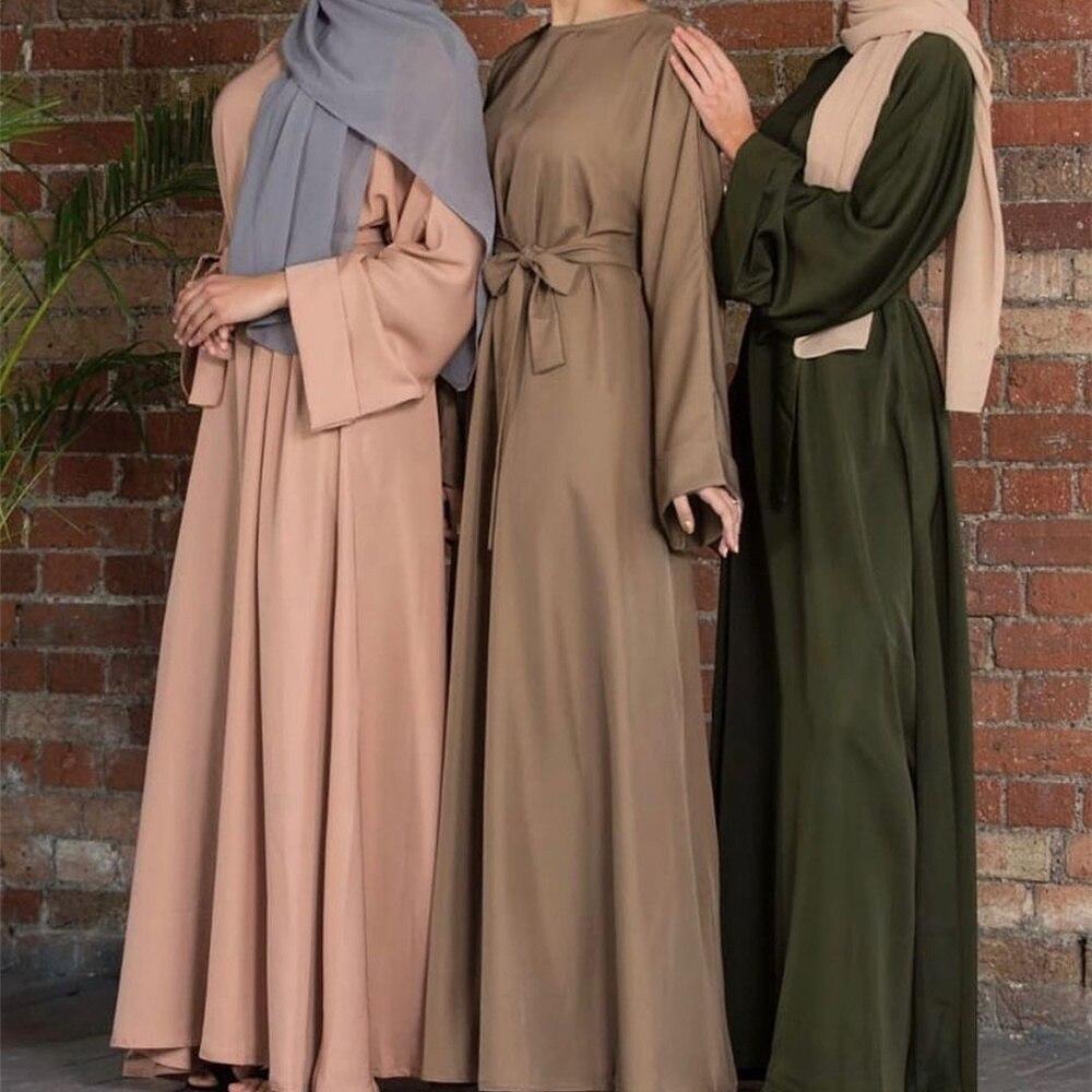 Vestido largo musulmán de Abaya para mujer, ropa holgada de manga larga,...