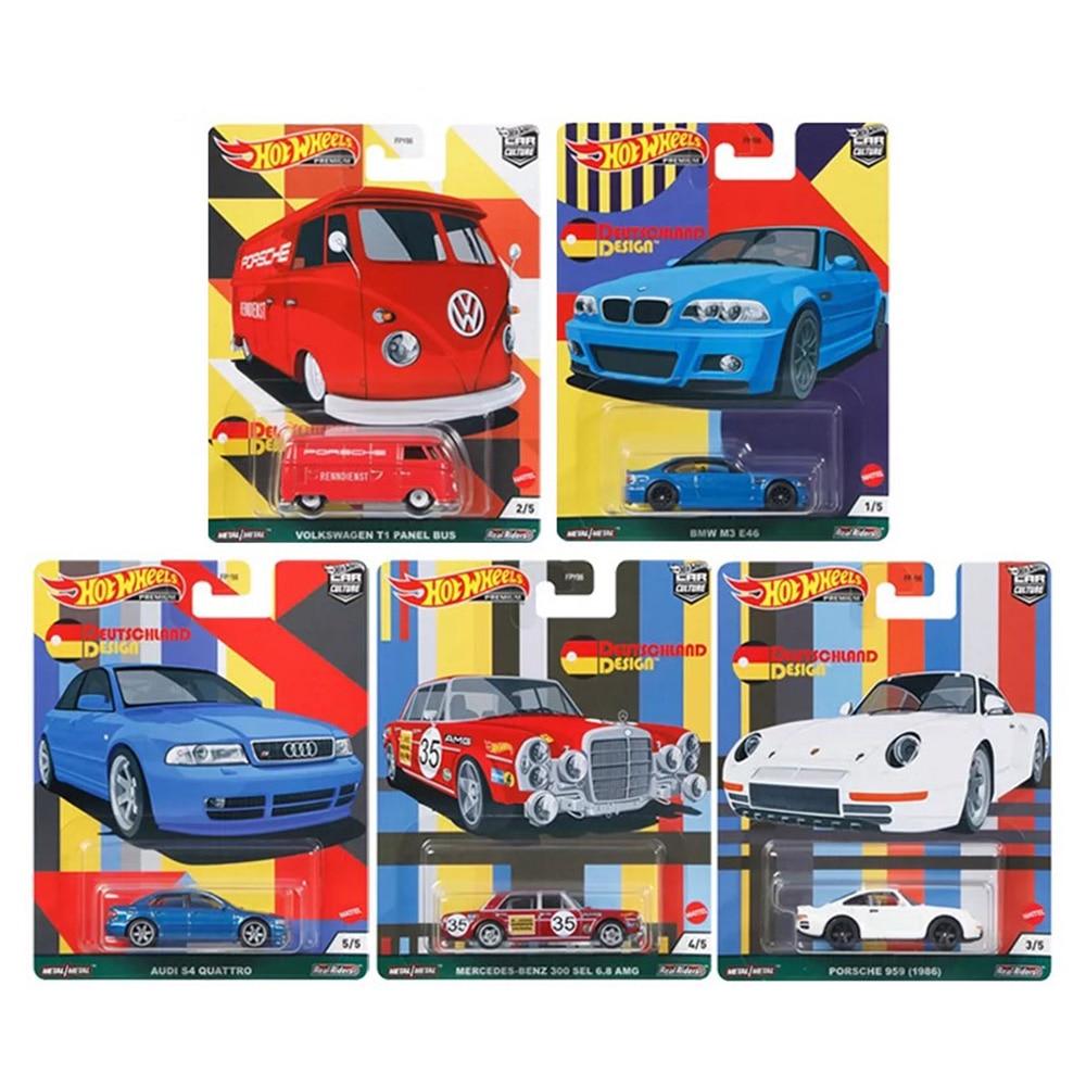 Hotwheels سيارة ثقافة Aodi Benzi BWM E46 الألمانية تصميم سبائك سيارات لعب للأطفال جمع الهدايا