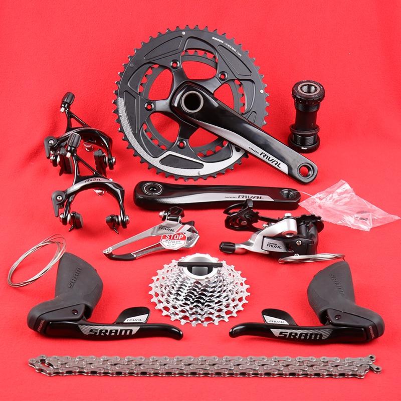 SRAM RIVAL 2X11 22 سرعة الطريق دراجة دراجة جزء عدة مجموعات 52X36T/50X34T 170/172.5 مللي متر GXP Derailleur شيفتر الفرامل عتلات