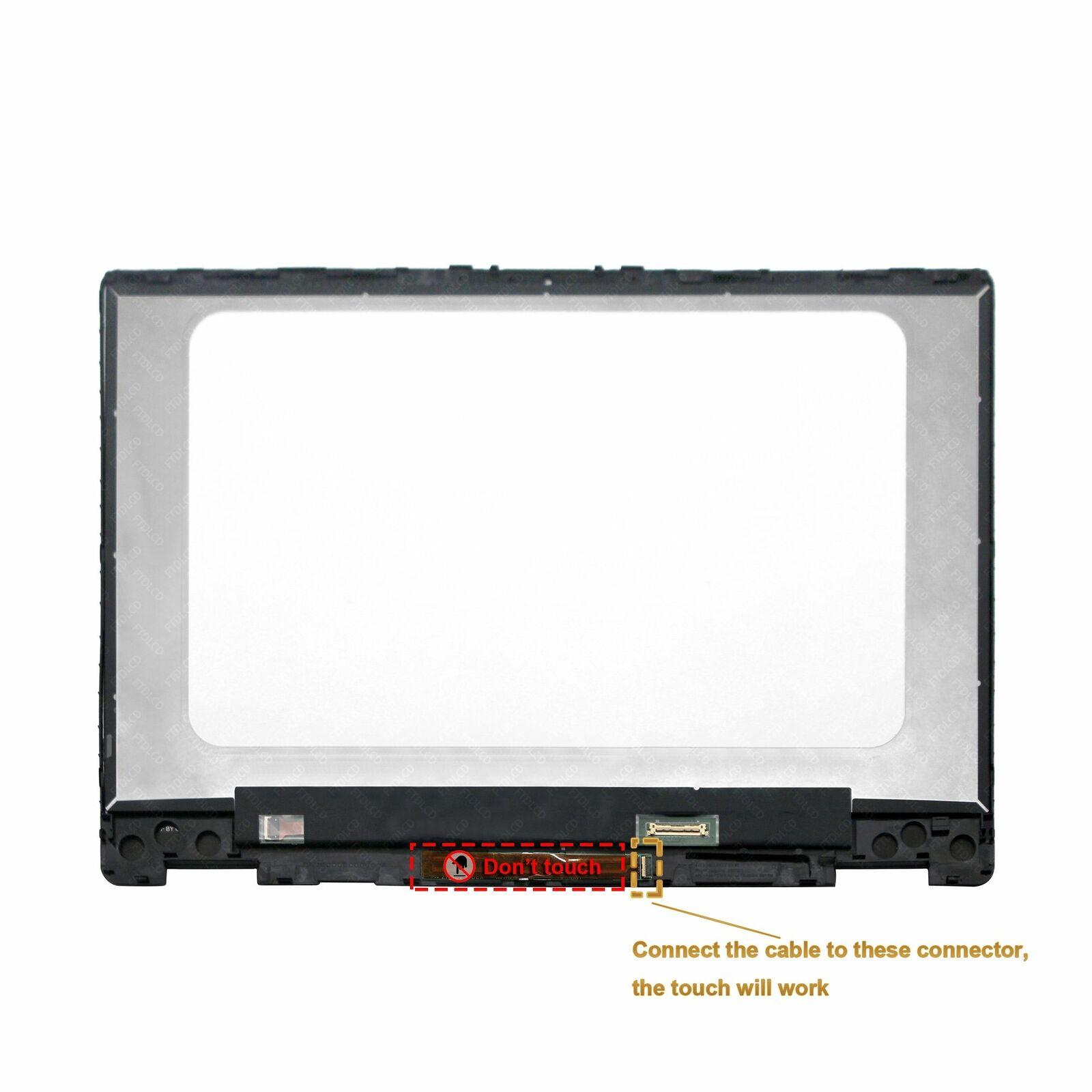 محول رقمي بشاشة تعمل باللمس بإطار LED مقاس 14 بوصة ، لجهاز HP Pavilion x360 14M-dh1003dx