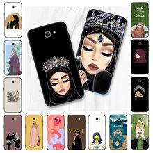 Yinuoda cartoon hijab esthetische moslim Meisje ilham malah PhoneCase Voor Samsung Galaxy J7 J6 J8 J4 J4Plus J7 DUO J7NEO j2 J5 Prime