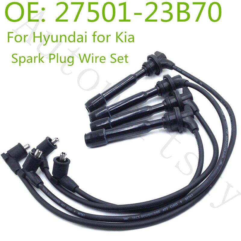 Parte #27501-23B70 2750123B70 27501-23A00 2750123A00 nueva chispa de encendido cables de enchufe de Cable para HYUNDAI TIBURON TUSCANI AVANTE