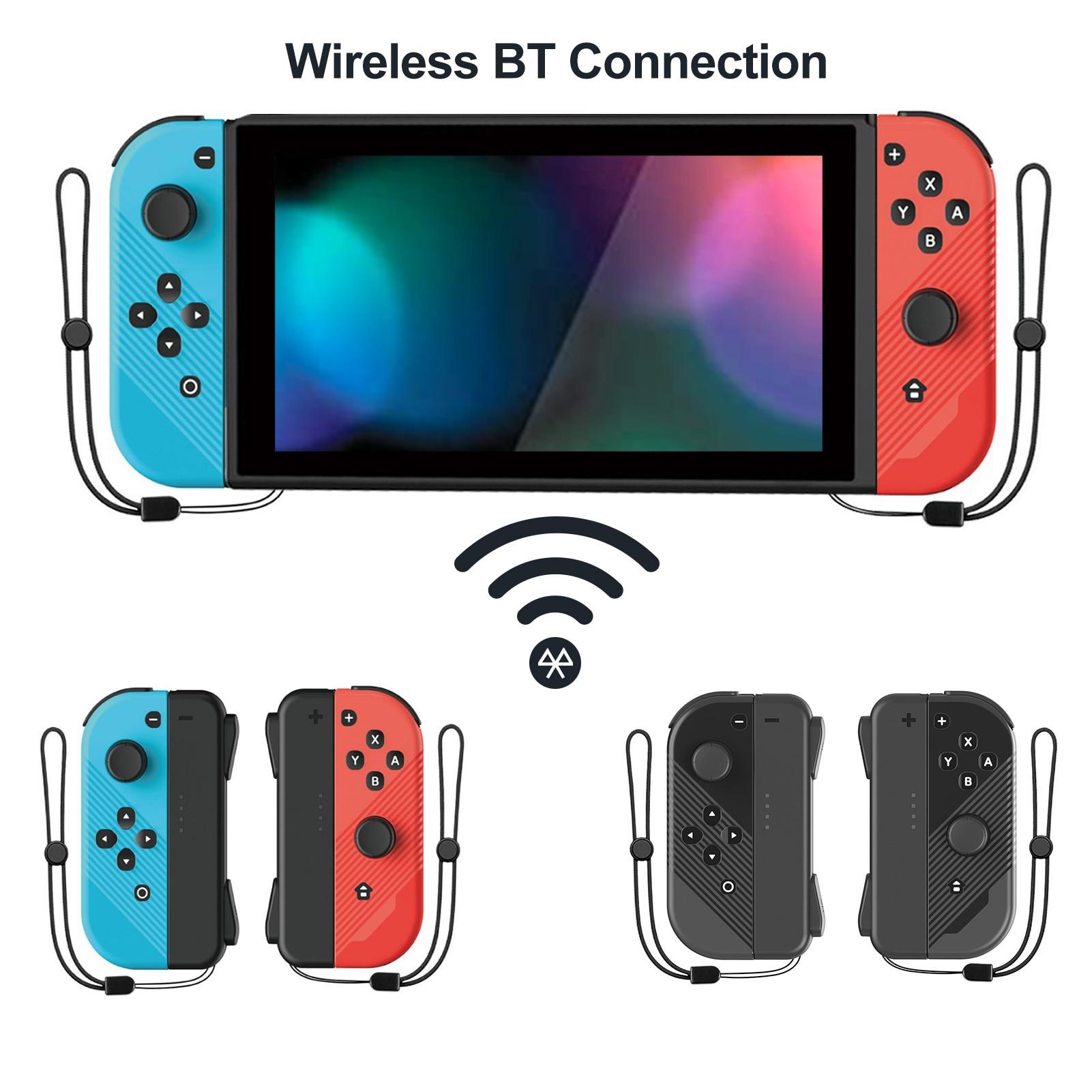 جديد 1 زوج اليسار واليمين الألعاب المقود أذرع التحكم في ألعاب الفيديو مقبض متوافق مع التبديل وحدة التحكم للكبار الاطفال صبي أسود/أزرق أحمر