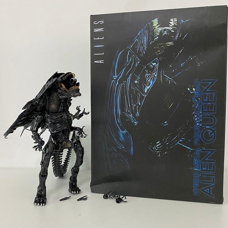 Neca-figura de reina alienígena híbrida de Metal, figura de Alien VS figura...