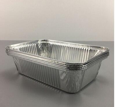 Fiambrera desechable bandeja de hojalata para hornear arroz caja de pasta Bol caja de papel de aluminio weber accesorios de parrilla