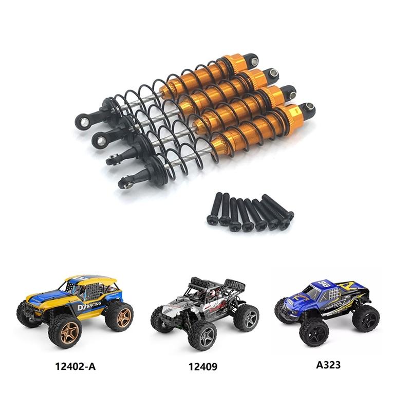 Metal Oil Filled Front & Rear Shock Absorber Damper for Wltoys 12402-A A323 12409 1/12 RC Car Upgrade Parts enlarge