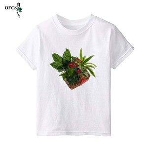 Детская футболка для девочек, летние хлопковые топы для малышей, футболки для малышей, одежда для мальчиков, детская одежда, футболка с 3D при...