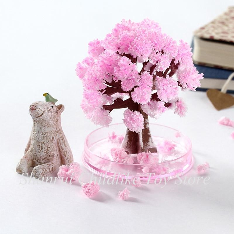 Волшебная растущая бумага «сделай сам» с кристаллами, Вишневое дерево, волшебно забавные Рождественские елки, детские игрушки, научная игр...