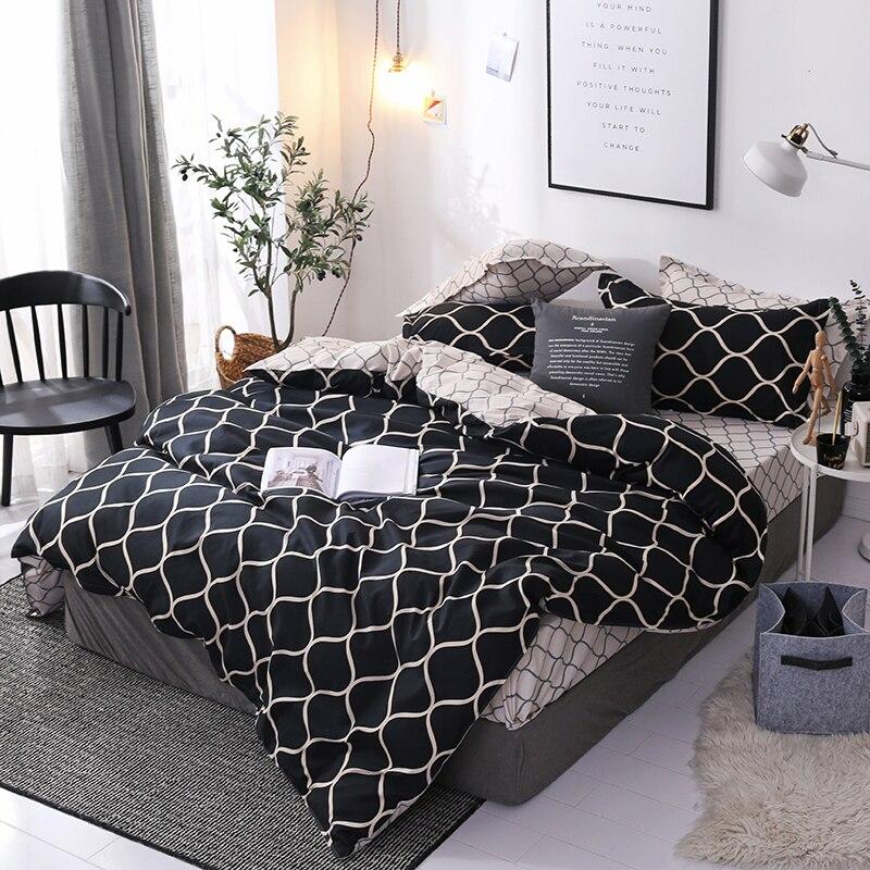 4pcs comforter bedding set bed cover set bed linen set flat sheet / bedspread + duvet cover+ Pillow case Textile for Home decor