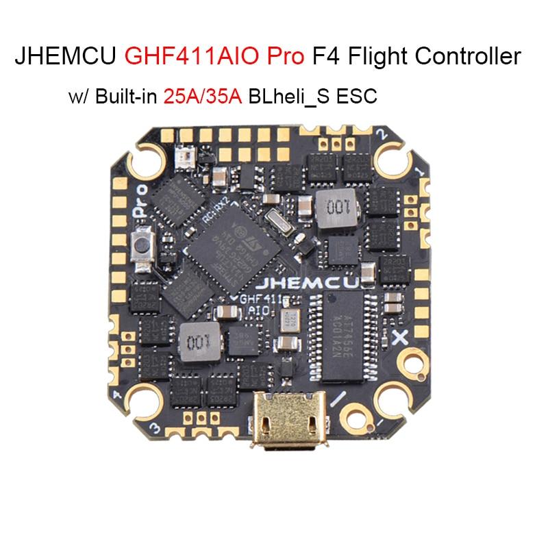 JHEMCU GHF411AIO F4 OSD الطيران المراقب ث/25A/35A BL_S 2-4S 4in1 ESC ل RC FPV سباق Drone Quadcopter قطع الغيار RC أجزاء