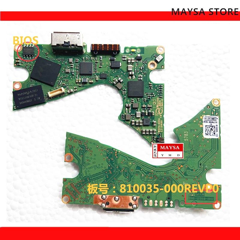 HDD PCB المنطق مجلس إفتح مجلس 2060-810035-000 REV P0 ل WD USB 3.0 4 تيرا بايت 5 تيرا بايت القرص الصلب إصلاح استعادة البيانات PC3000