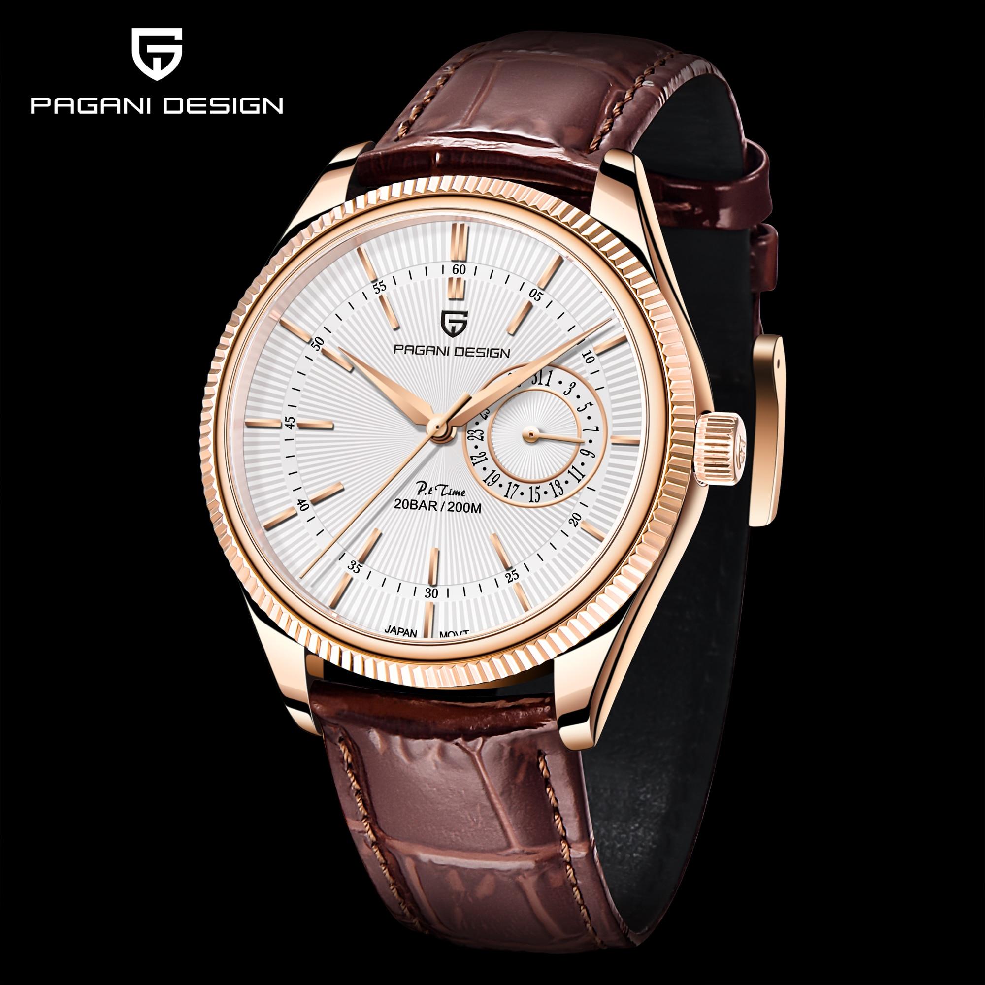 2021 New PAGANI Design Men's Quartz Watch Sapphire Japan VH65 Clock Men's Sports 200m Automatic Waterproof Watch Reloj Hombre