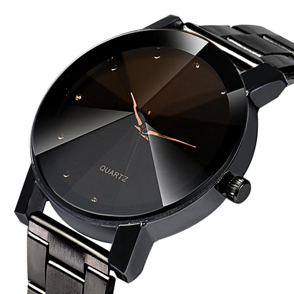 Модные повседневные мужские часы, черные кварцевые наручные часы из нержавеющей стали, мужские роскошные часы, мужские часы, мужские часы