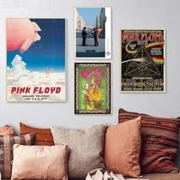 Toile de peintures de groupe de Rock britannique classique  affiches de cafe et de Bar retro Vintage et images dart murales imprimees pour decoration de salon et de maison