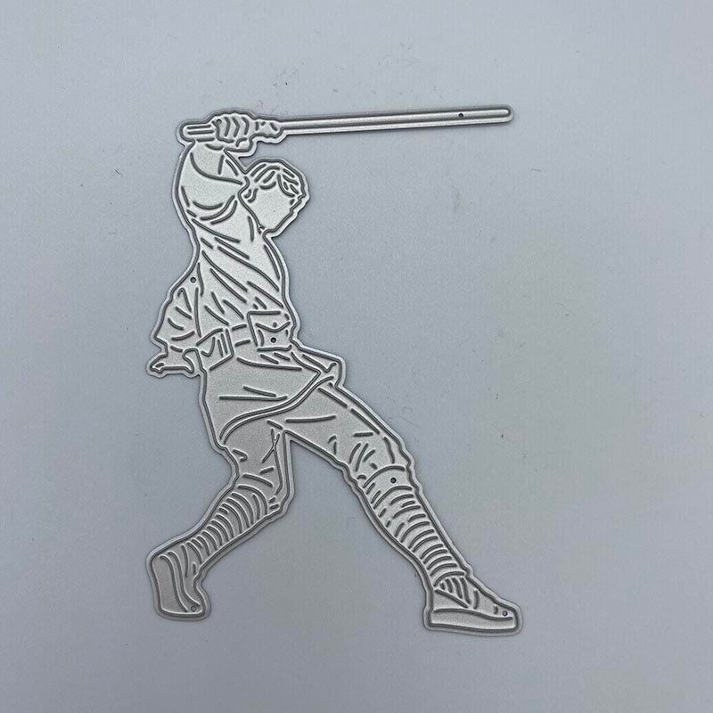 Playing baseball guy Metal Cutting Dies Stencils Scrapbooking Decorative Embossing Folder Carbon Steel Paper Card DIY