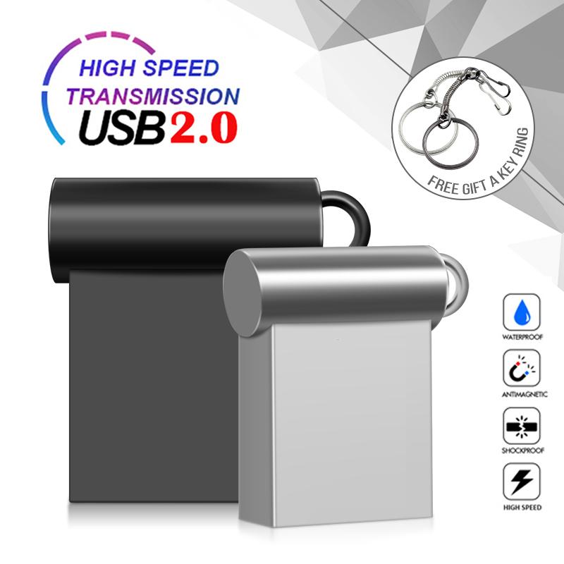 New Super Mini Metal Usb Flash Drive 4G 8G 16G Pen Drive 32GB High Speed Memory Stick U Disk 64G Pendrive 2.0 Memoria Usb