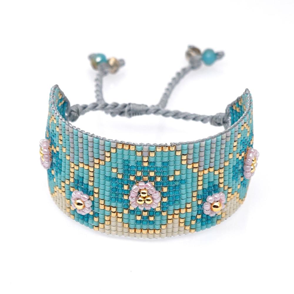 Go2boho MIYUKI Bracelet Flower Pattern Bracelets Pulseras Mujer 2020 Women Beads Loom Jewelry Vintage Handmade Hot Sale Armband