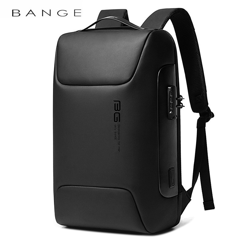 BANGE حقيبة ظهر مقاومة للسرقة لمدة 15.6 بوصة محمول على ظهره الذكور Mochila حقيبة السفر مقاوم للماء