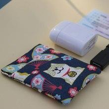 Été nouvelle marque toile sacs à main petit frais décontracté monnaie portefeuille dame mode chat chanceux dessin animé écouteur poche Dollar argent sac