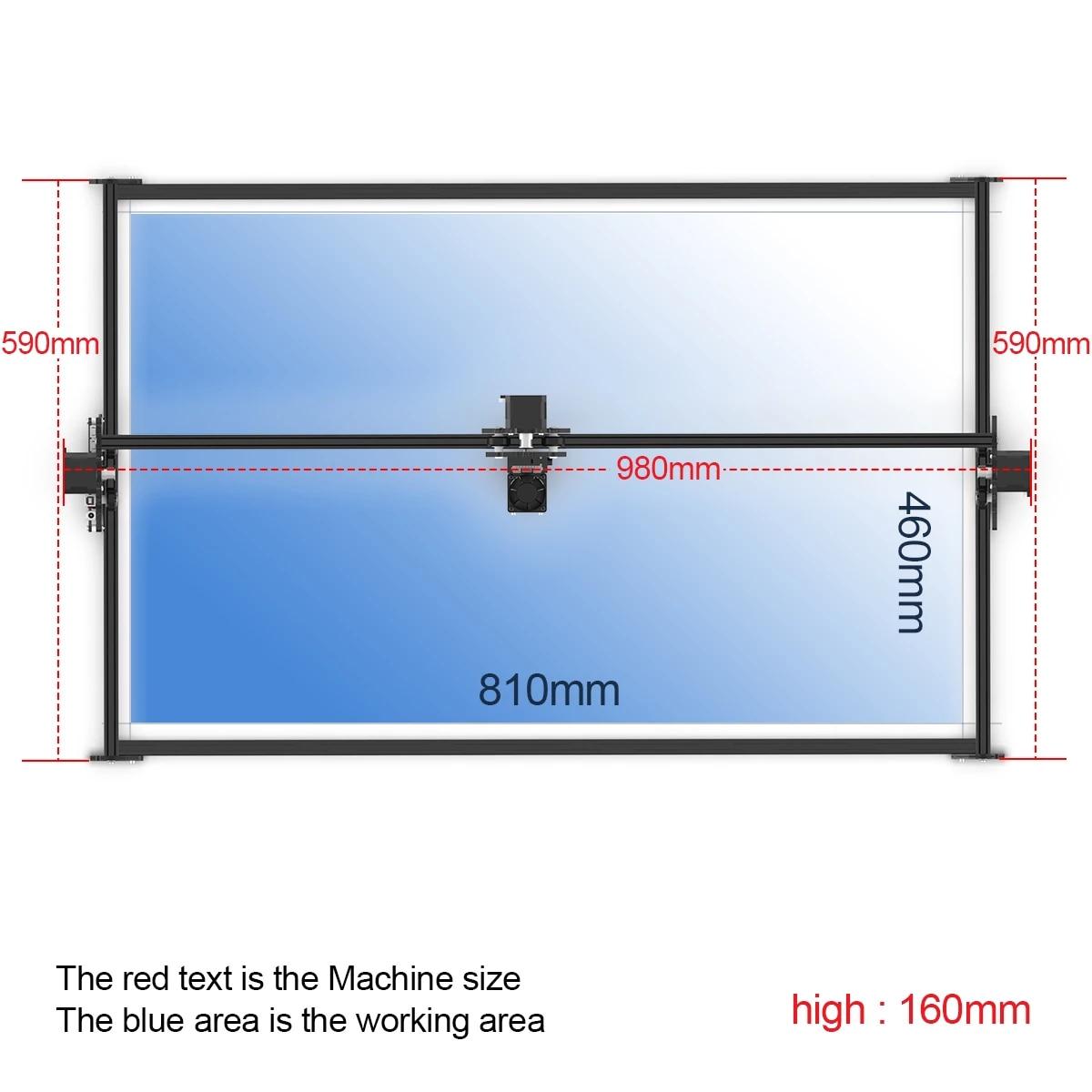 NEJE Max 80W High Speed Laser Engraving Machine Lightburn App Control CNC Laser Cutter Engraver Material for Wood/Metal/Leather enlarge
