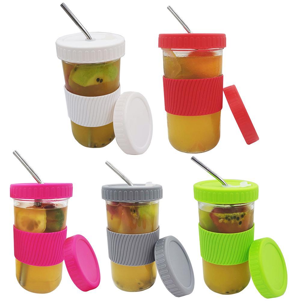650ml copo da bebida pode jar para o copo de pedreiro com tampa multifuncional smoothie garrafa de chá da bebida para o chá da bolha de bobo