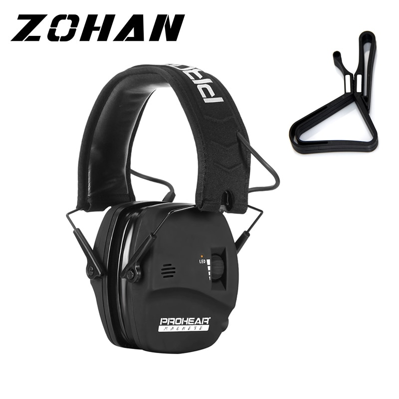 ZOHAN earmuff hunting Hearing Protector Electronic Shooting headset Noise reduction Ear Protection for shooting NRR 22DB zohan noise cancelling hunting hearing protection safety earmuffs ear defenders adjustable shooting ear protection protector