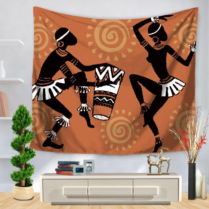 África original pessoas impresso tapeçaria parede pendurado decoração para casa boêmio amarelo mesa pano colcha yoga esteira cobertor 230x180 cm