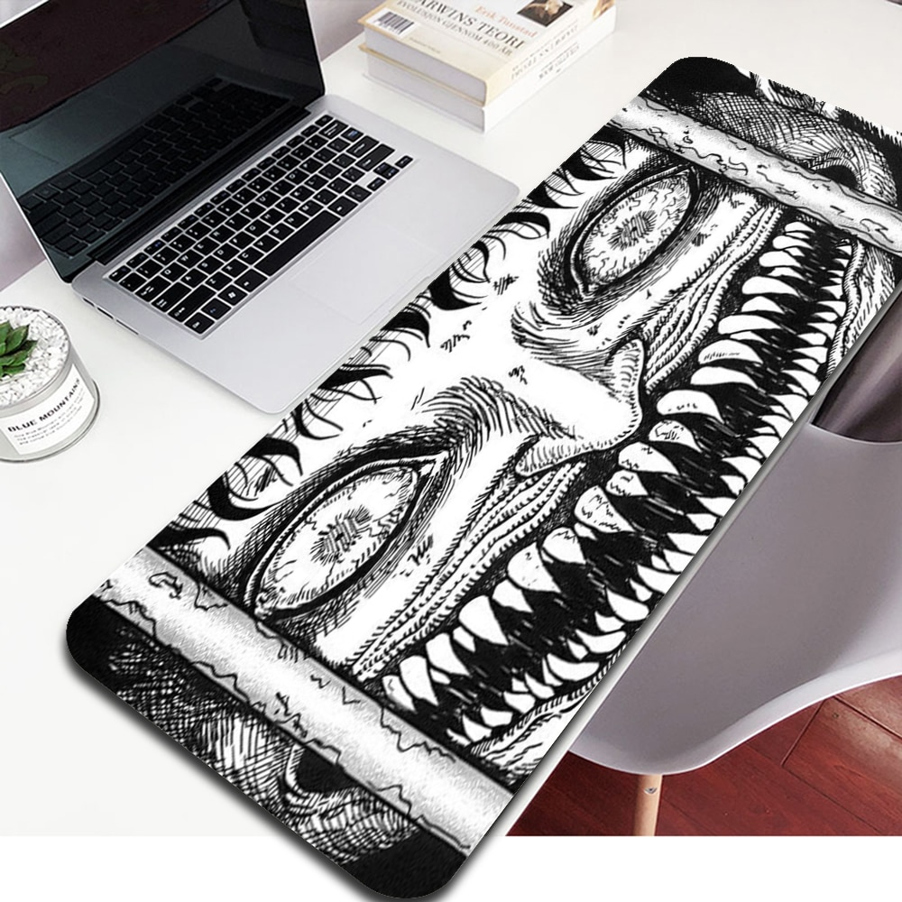 Junji Ito Laptop Gaming Mice Mousepad desk pad Large Mouse Pad Keyboards Mat Anime Mouse Pad Xxl Mouse Pad 40X90 Mausepad babaite high quality vikings laptop gaming mice mousepad free shipping large mouse pad keyboards mat