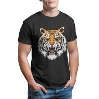 angry tiger mens t shirt custom kawaii graphic sleeve streetwear retro men clothing