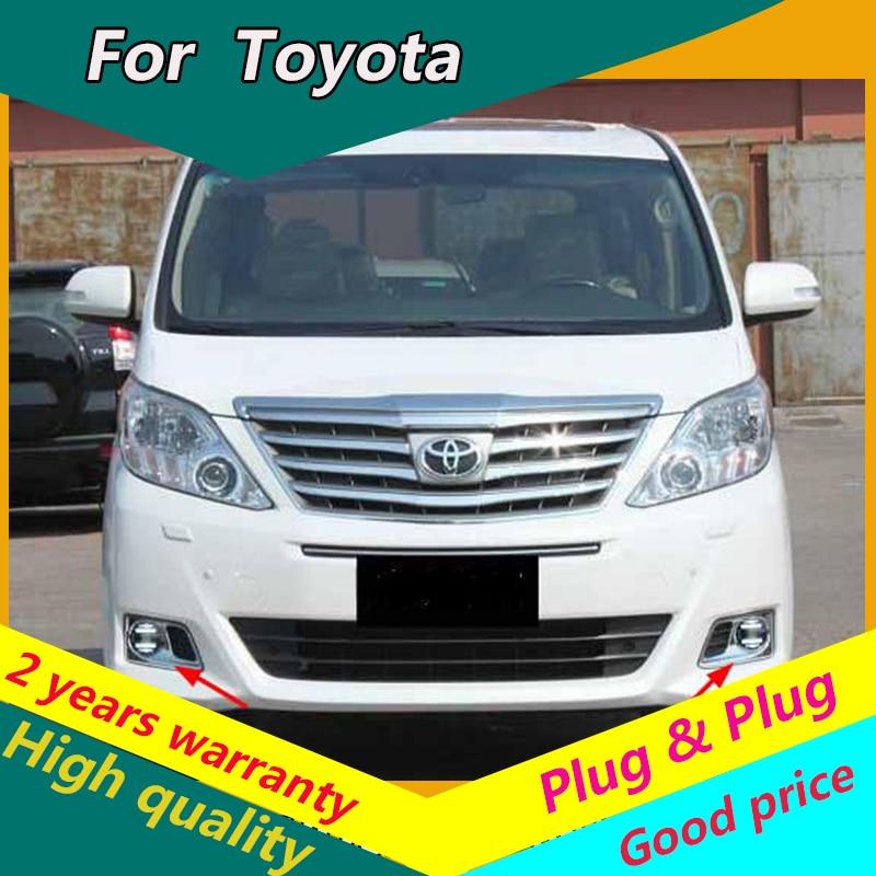 KOWELL Car Styling Fog Lamp for Toyota Land Cruiser Prado Alphard VIOS CROWN LED Fog Light Fog Lamp LED DRL 2 function model