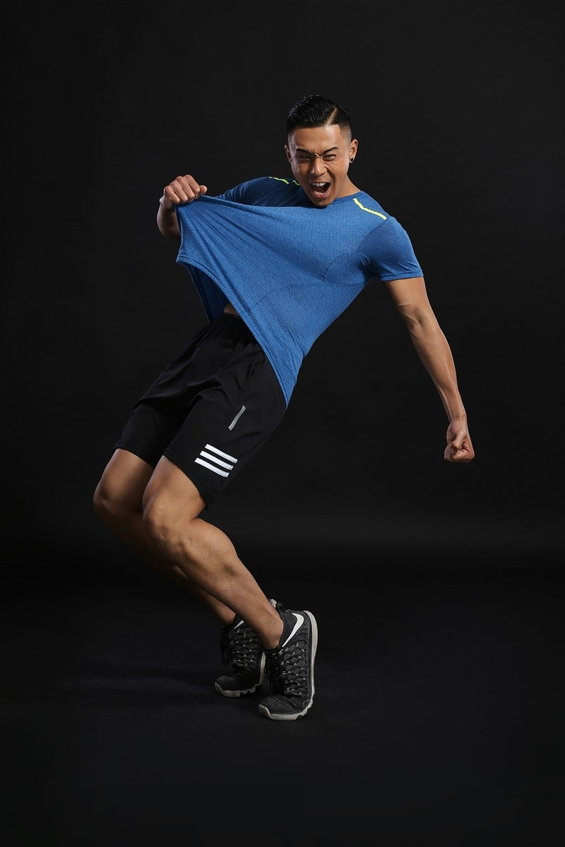 HOWE AO Men's Running T-Shirts, Quick Dry Compression Sport T-Shirts, Fitness Gym Running Shirts Tees, Men's Soccer Jersey  - buy with discount