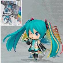 ¡10cm anime figura Hatsune miku 10th aniversario Ver! Figura de acción de PVC juguetes de modelos coleccionables para niños