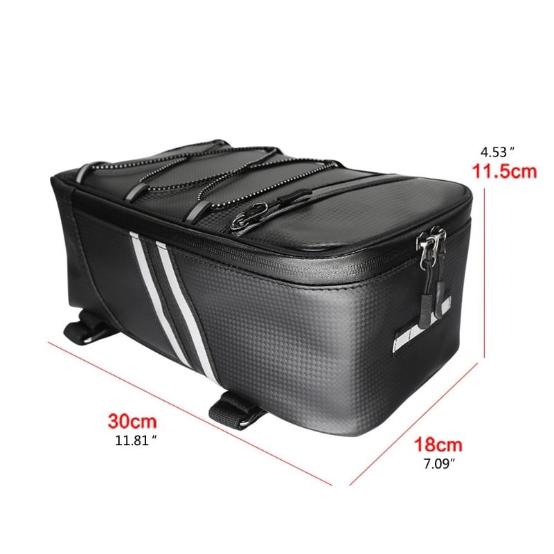 Автомобильный багажник для велосипеда задний багажник для велосипеда сумка из искусственной кожи Водонепроницаемый сумка для хранения 8L о...