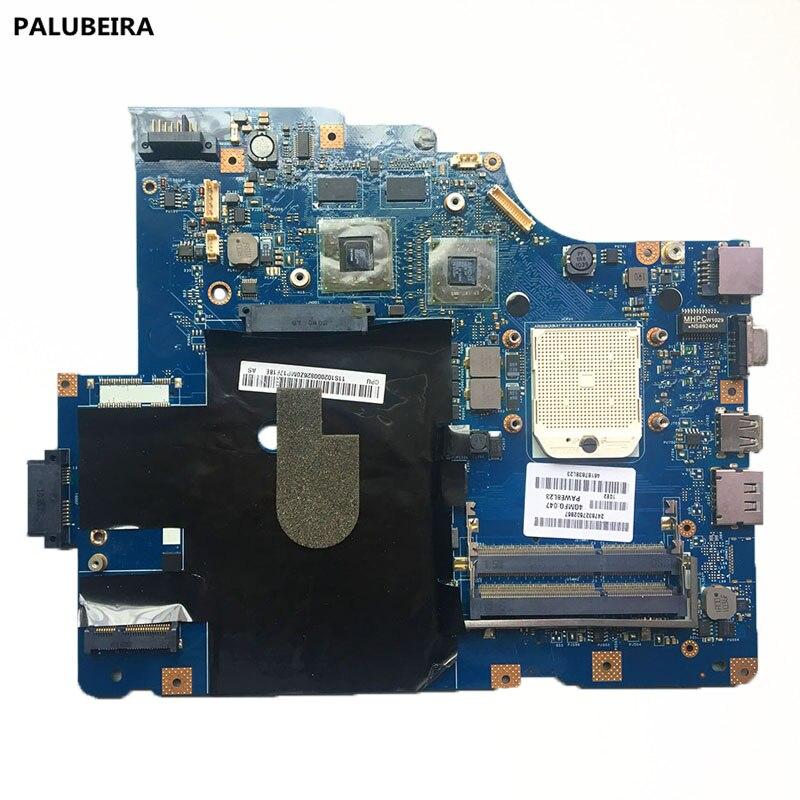Placa base de PALUBEIRA LA-5754P para Lenovo G565 Z565 placa base de ordenador portátil Z565 placa base de prueba con chips de tarjeta gráfica
