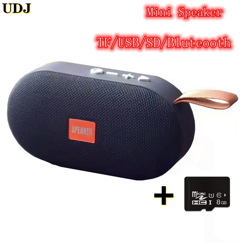 UDJ Mini Bluetooth Wireless Audio Outdoor Waterproof Portable Speaker With Surround Sound Music Support TF FM USB AUX and Speake
