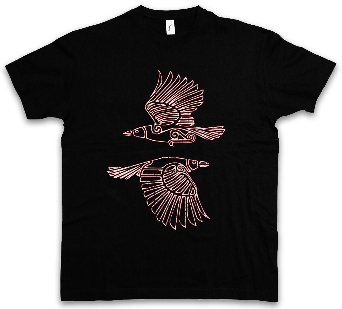 HUGIN y MUNIN camiseta III Valhalla nórdico vikingos Odhin Odín y Thor Raven de los Ravens