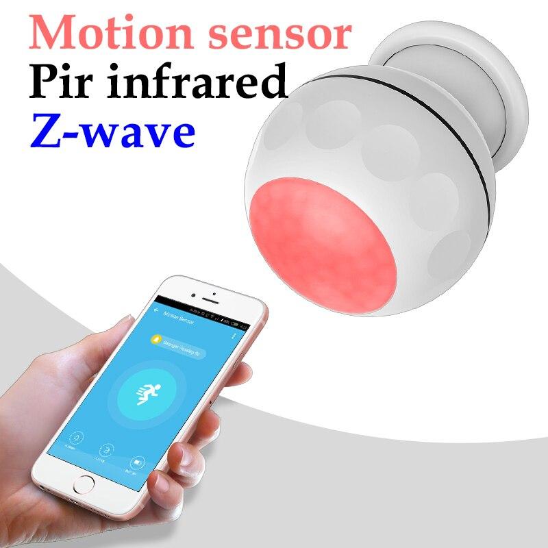 Z-wave زائد PIR محس حركة + استشعار درجة الحرارة APP التحكم عن بعد الذكية الأشعة تحت الحمراء للكشف عن جسم الإنسان zwave بوابة المطلوبة