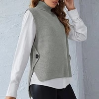 10 colors new arrival women sweater preppy style embroidery sleeveless v neck loose vest sweaters womens knitted ladys sweaters
