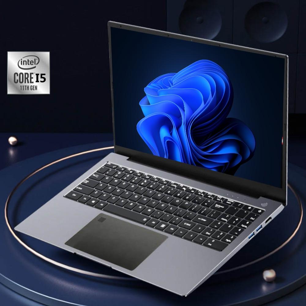 New Intel 1135G7  Gaming Laptop 15.6 Inch IPS Screen Intel Core I5-1135G7  Ultraslim 1th Gen Notebook Windows 10 Max Ram 32GB