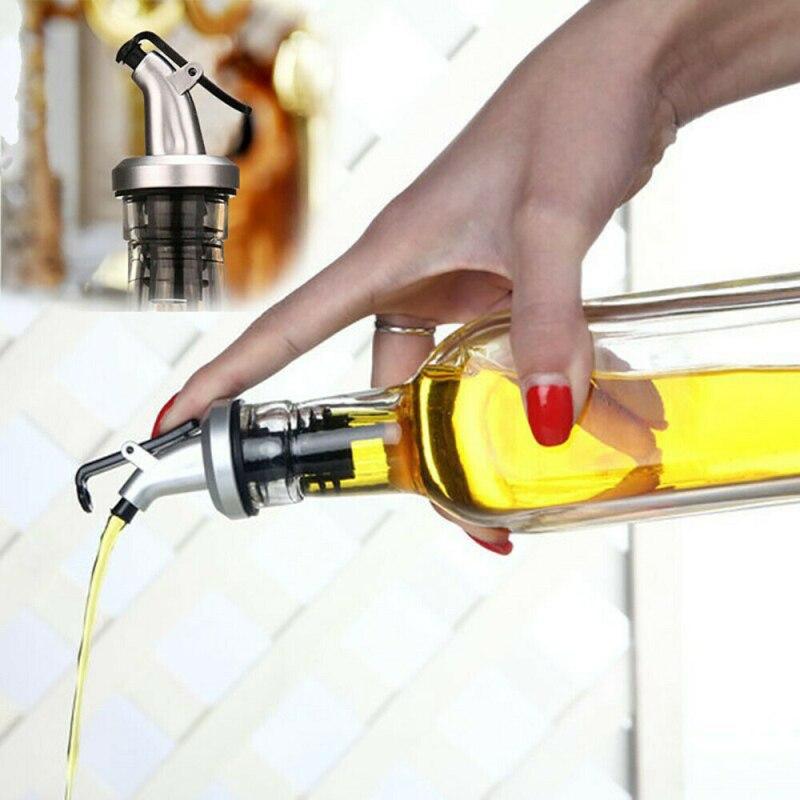 Tapón de botella de aceite, botellas de vinagre, puede bloquear el sello de enchufe, a prueba de fugas, boquilla de plástico para alimentos, pulverizador, dosificador de vino de licor