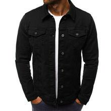 2020 NEW MEN'S DENIM JEAN JACKET - Classic Western Style Trucker Solid Jacket Coat
