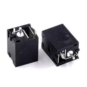 100Pcs DC Power Female socket DC-051A 5.5x2.1mm 5.5*2.1mm 180° Straight vertical charging socket solar lamp charging socket