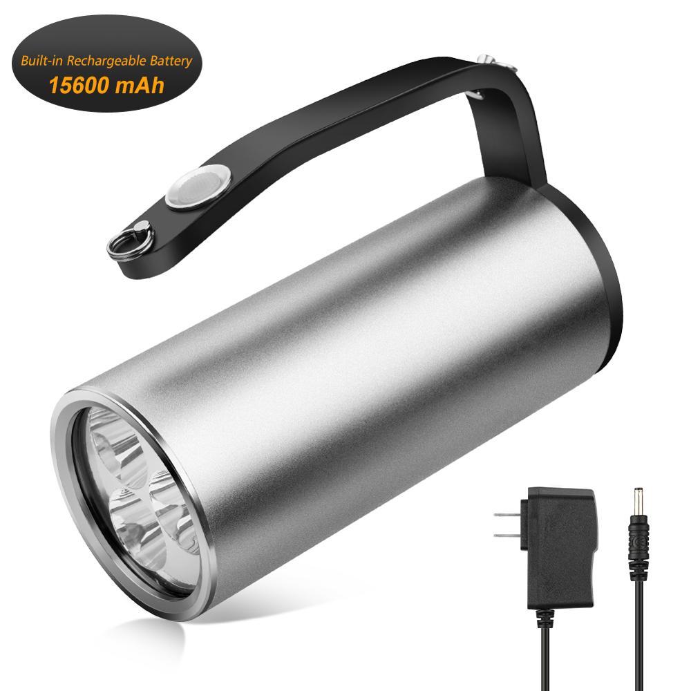 powerful flashlight 18w Strong light emergency led lights torch aluminum alloy 2000 lumnens IP67 explosion-proof flashlight enlarge